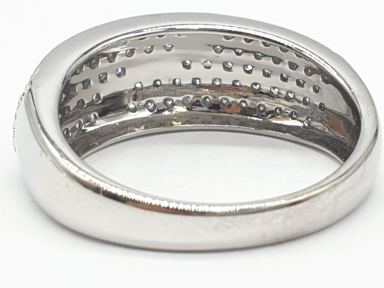 18ct diamond encrusted stylist ring. Weighs 5.6g and is a size O. - Image 4 of 7