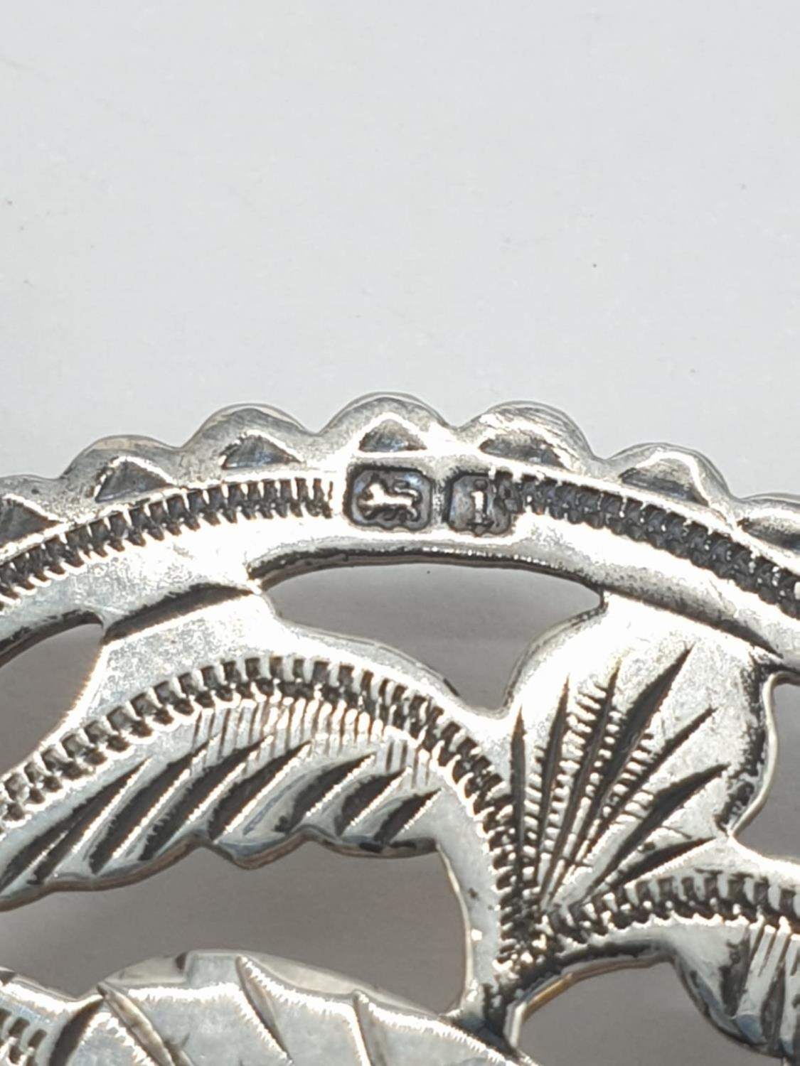 Large Silver agate Scottish bracelet, weight 70g and 22cm long and 3cm wide - Image 5 of 5
