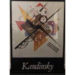 Framed PRINT of Kandinsky's - On white 11, 1923 painting. 51 x 68 cm.