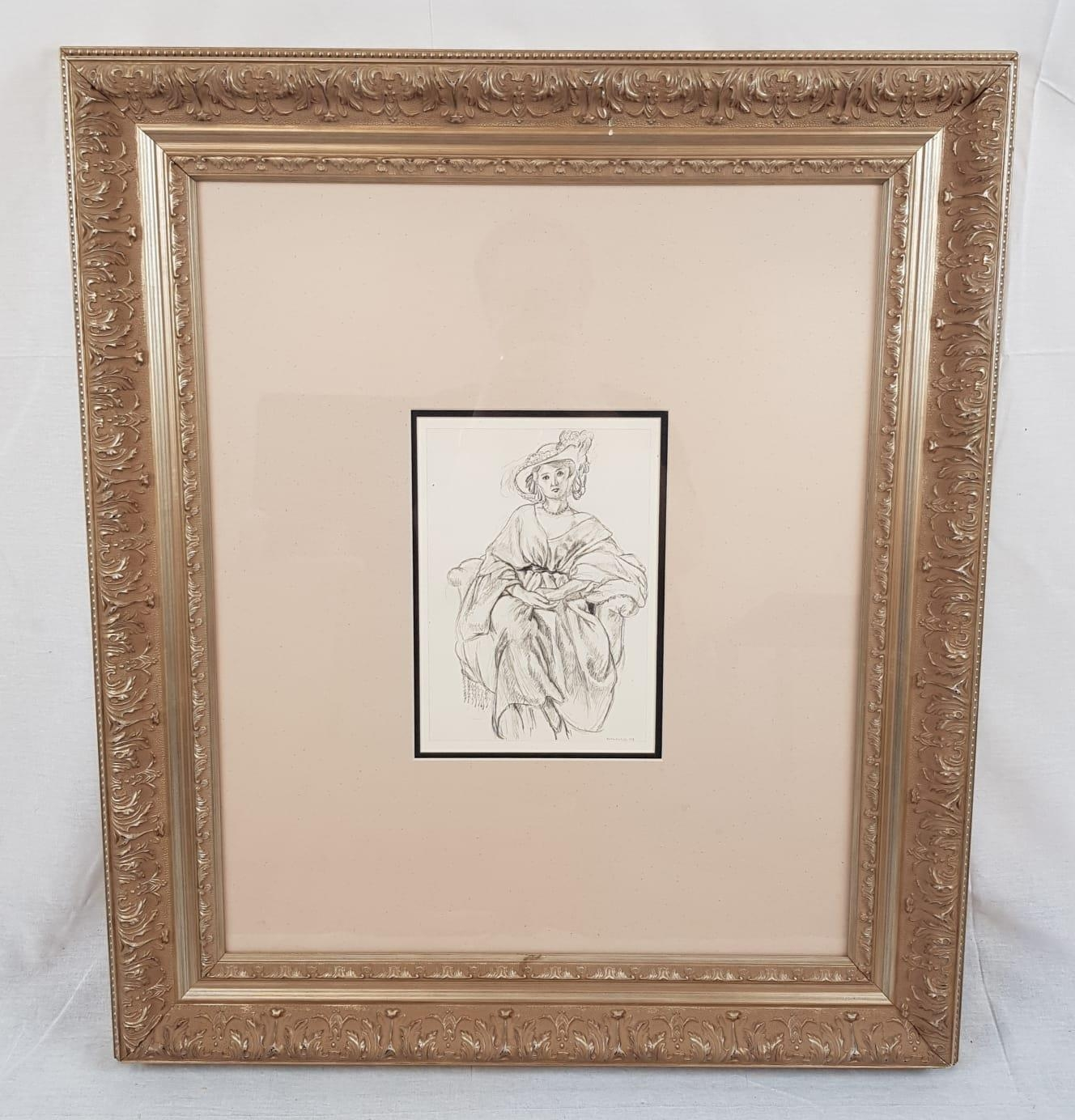 A limited edition Henri Matisse, Cinquente Dessins lithograph (592 of 1000). Printed by Victor