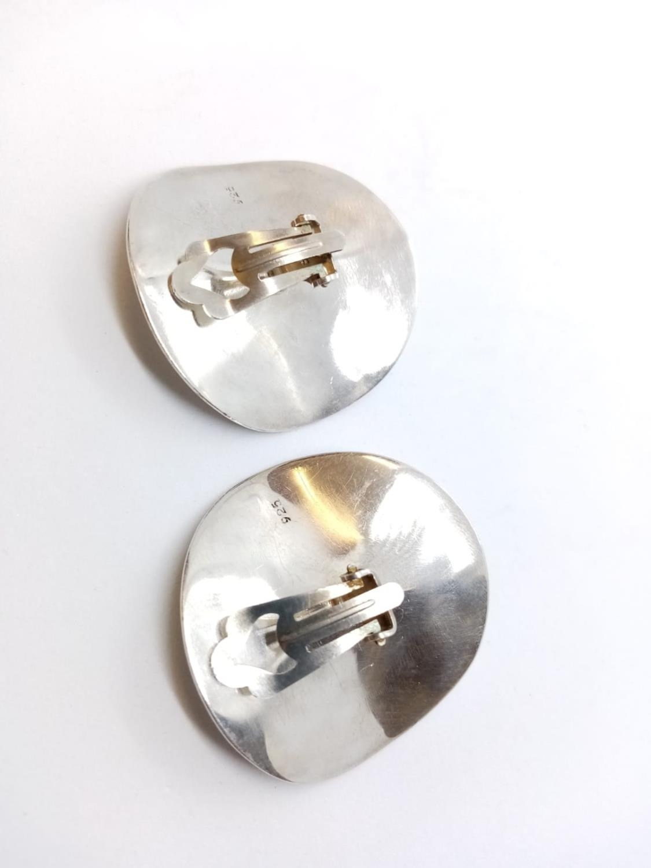 Pair of Silver Designer EARRINGS 17.7g - Image 3 of 4