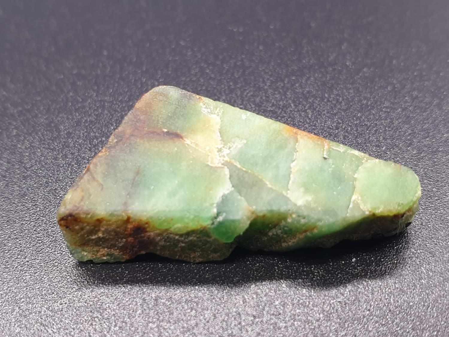 27.79 Ct Natural Emerald. Rough shape. IDT certified