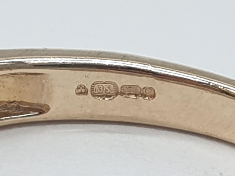 9ct yellow gold diamond half eternity ring, 0.30ct diamond, weight 1.9g and size J - Image 5 of 6