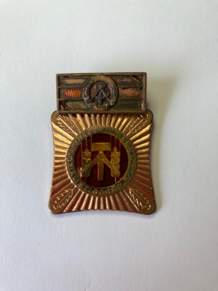 Vintage East German workers medal. As found.