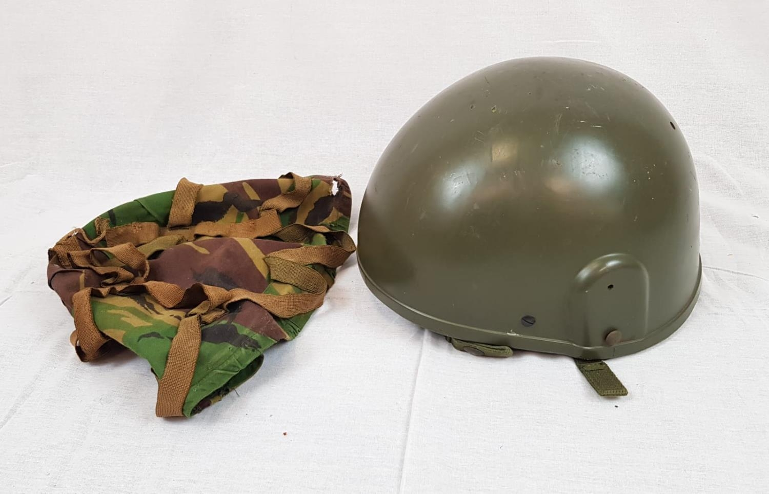 Military Issue Ballistic HELMET previously issued to Pte Cargill, 4 Platoon (as marked on the
