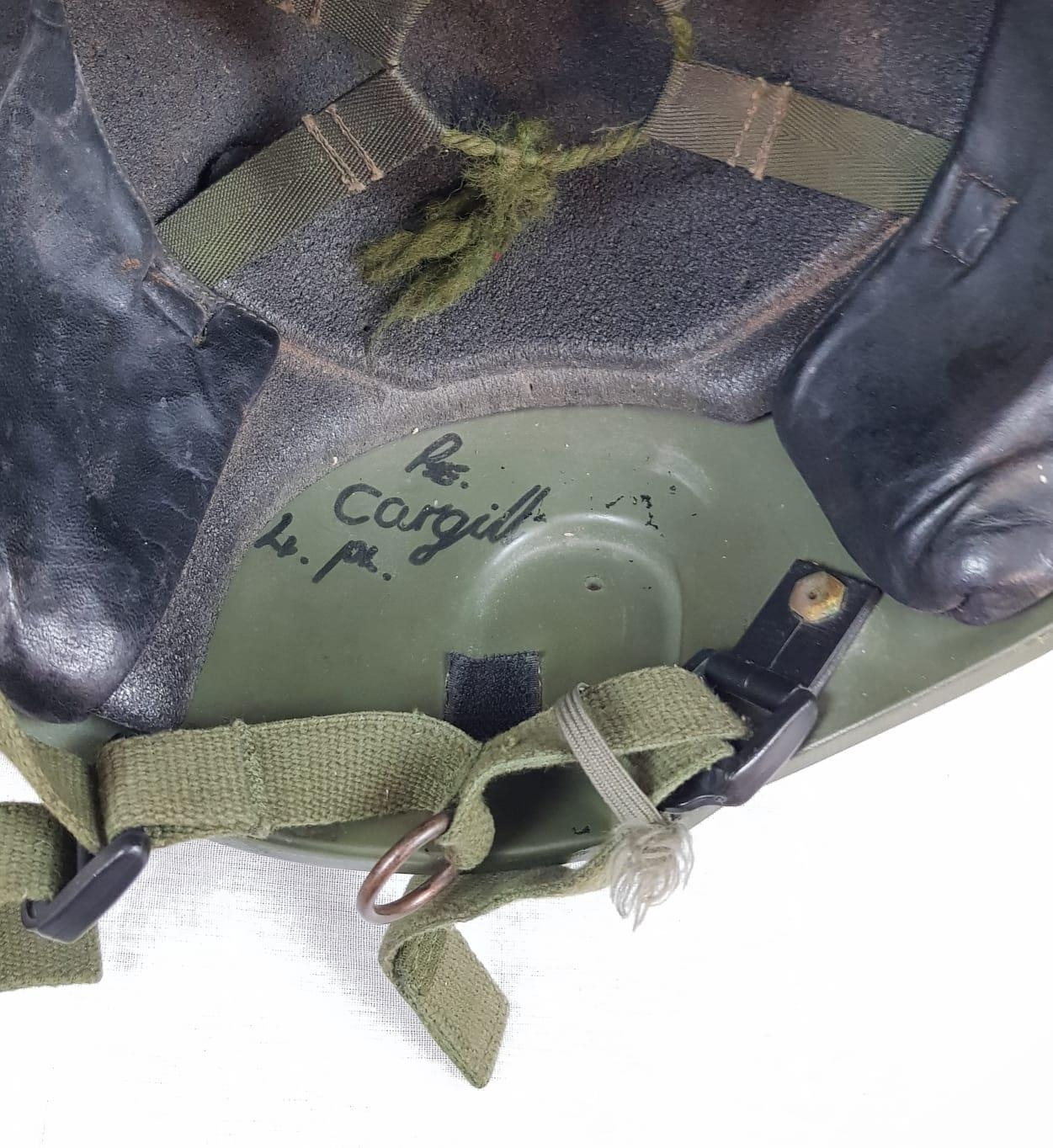 Military Issue Ballistic HELMET previously issued to Pte Cargill, 4 Platoon (as marked on the - Image 4 of 4