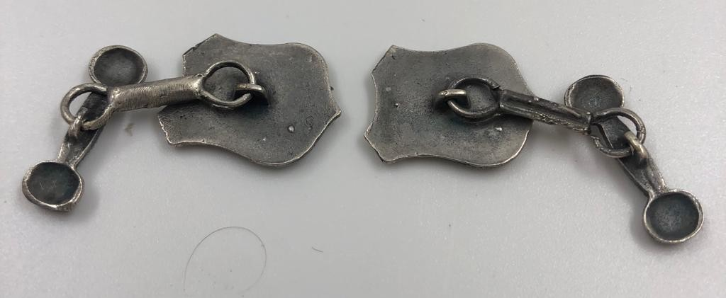 Pair of WWII Luftwaffe officer cuff links - Image 2 of 2