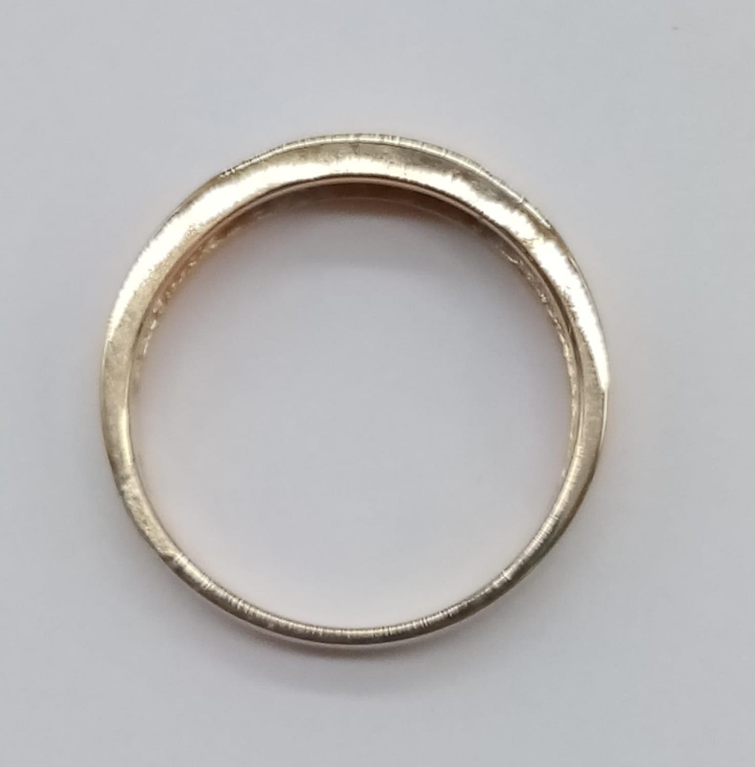 14CT Yellow gold DIAMOND SET BAND RING, weight 3.9G and size P - Image 3 of 6
