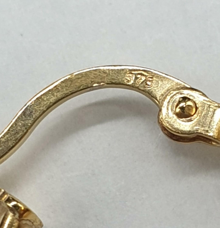 9ct Gold Oval Hoop Earrings 1.0g - Image 3 of 3