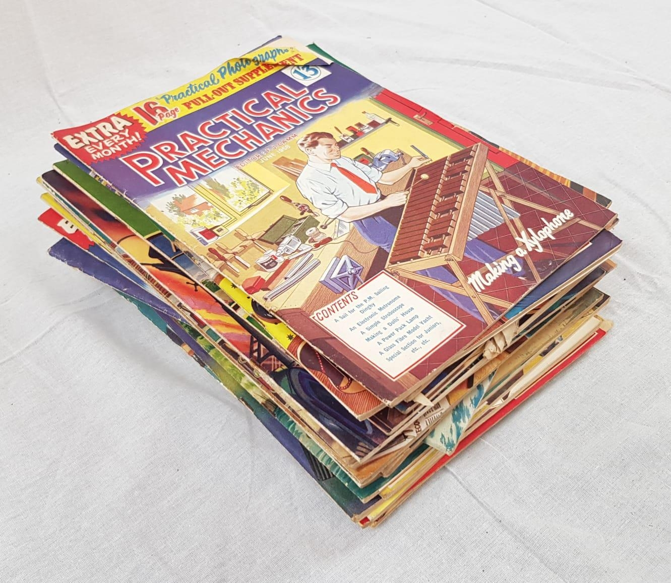 Vintage copies of Practical Mechanics magazine from 1957 - 1958. Including the classics: A room to - Image 2 of 2