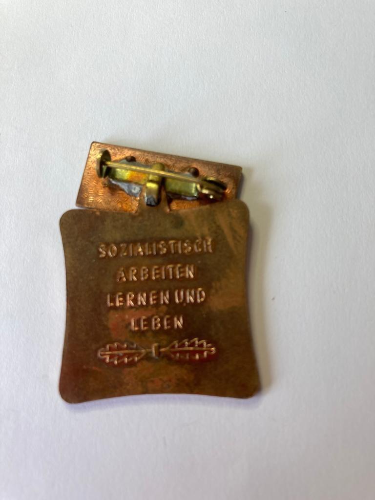 Vintage East German workers medal. As found. - Image 2 of 2
