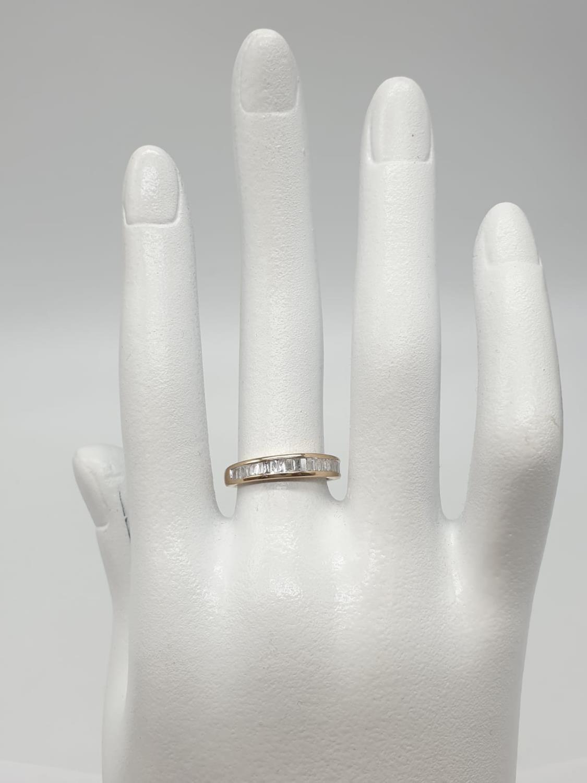 9ct yellow gold diamond half eternity ring, 0.30ct diamond, weight 1.9g and size J - Image 6 of 6