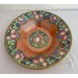 Vintage Lucien Boullemier large fruit bowl. Beautifully decorated with full set of markings to base.