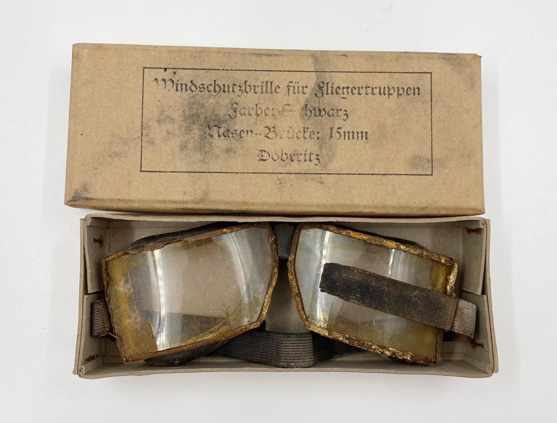 WW1 German Aviator Goggles in original box.