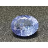 1.30 Ct Tanzanite. Oval shape. IDT certified