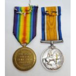 Pair of WWI medals awarded to R.H. Cuddeford 57102 of the Liverpool regiment. To include the war