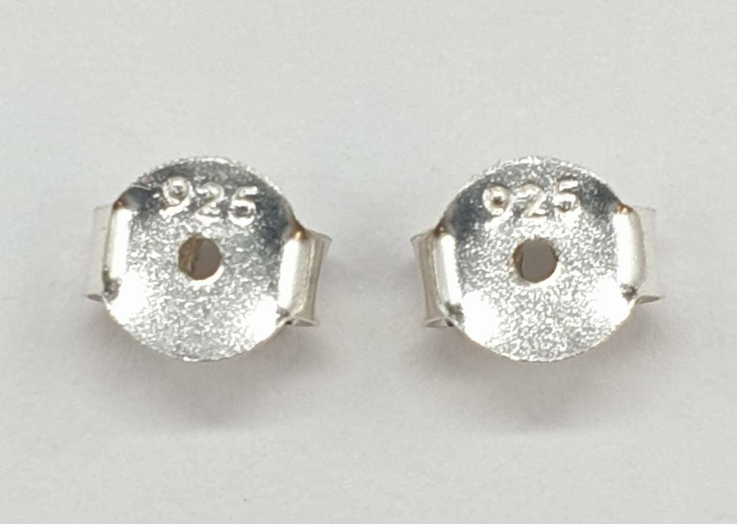 1.80cts White Moissanite Stone Stud Earrings in Sterling Silver with butterfly clips. Weight 1.63 - Image 3 of 3
