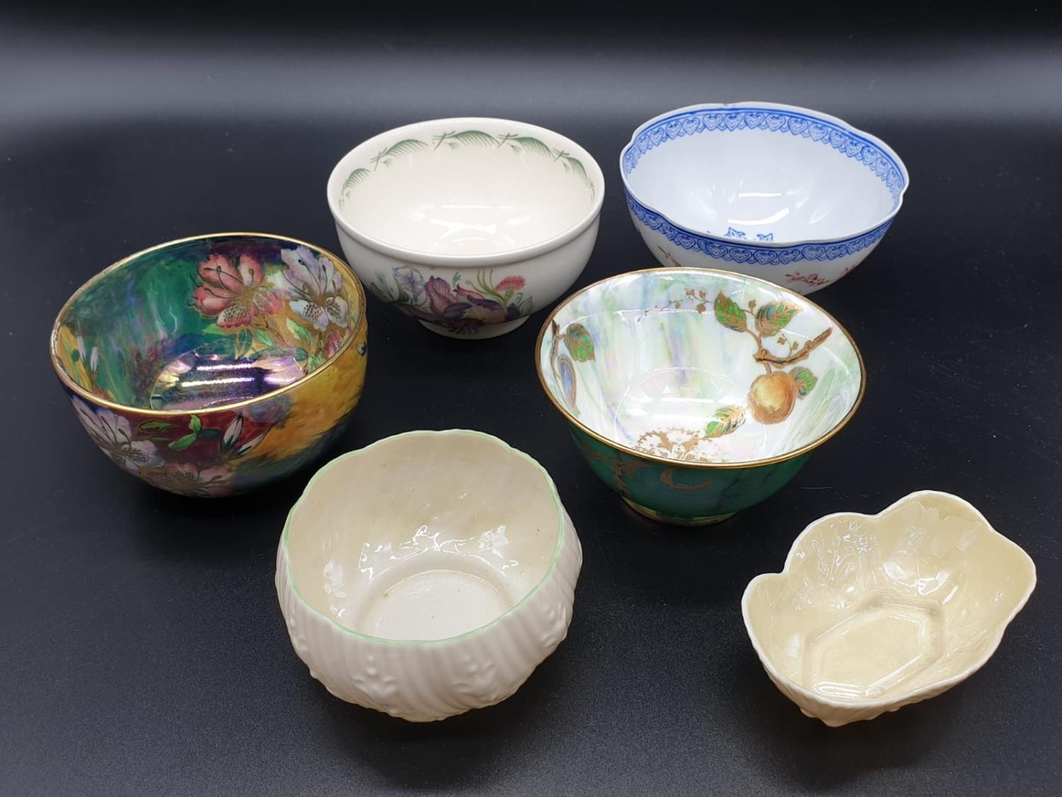 Collection of small bowls, English, Irish and Oriental. Largest bowl is 10cm in diameter. All good