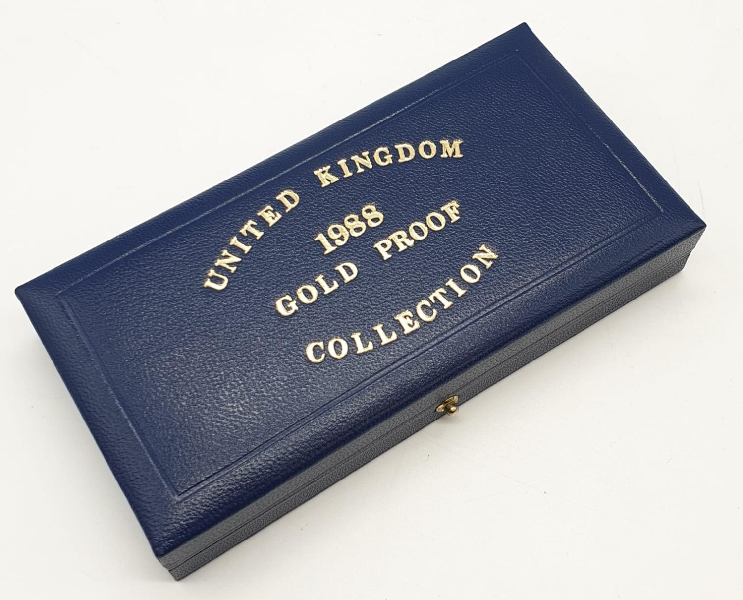 1988 UK GOLD PROOF 3 COIN COLLECTION TO INCLUDE A DOUBLE SOVEREIGN, A SOVEREIGN AND A HALF - Image 6 of 6