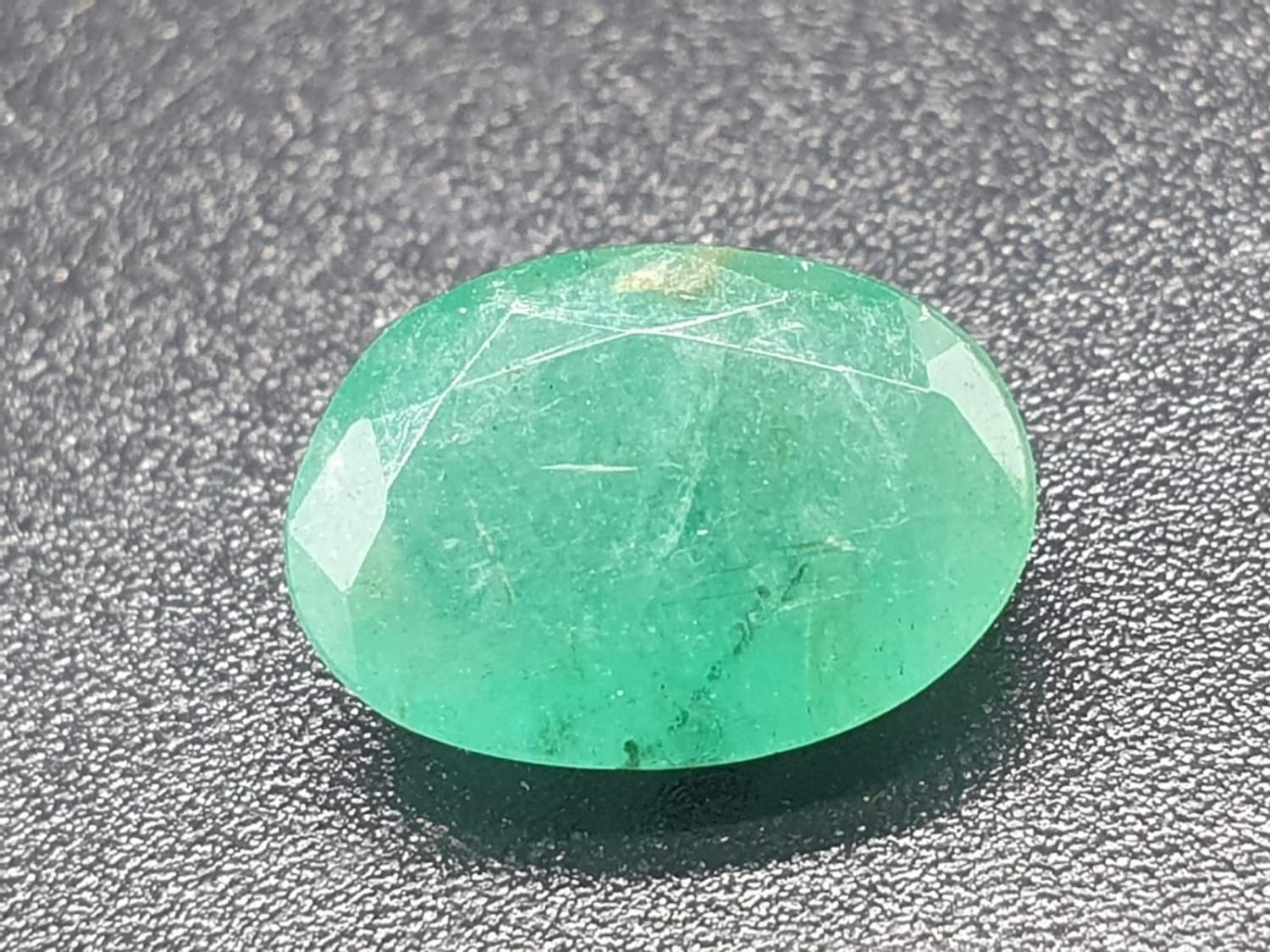 2.01 Ct Natural Loose Emerald. Oval shape. IDT certified