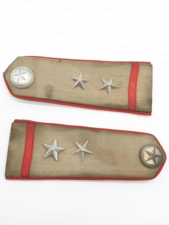 Vietnam War Era Vietcong Officers Shoulder Boards, Helmet Badge and a Collar. - Image 2 of 10