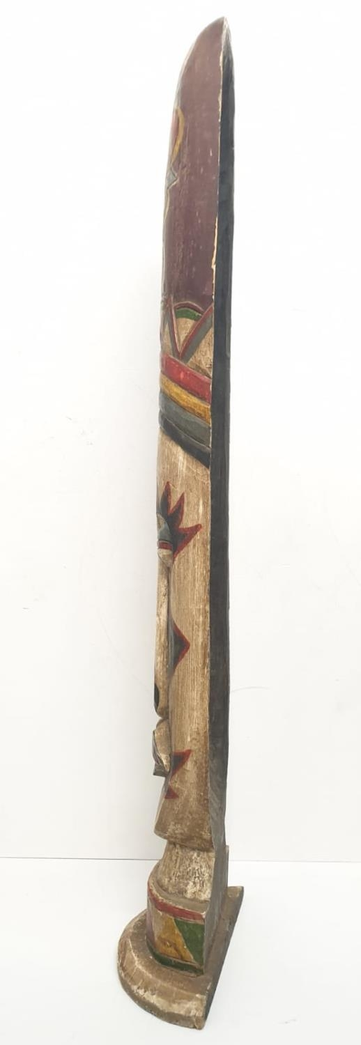 A large and free standing tribal mask from the Amazon Basin (probably Brazilian) made from Balsa - Image 2 of 8