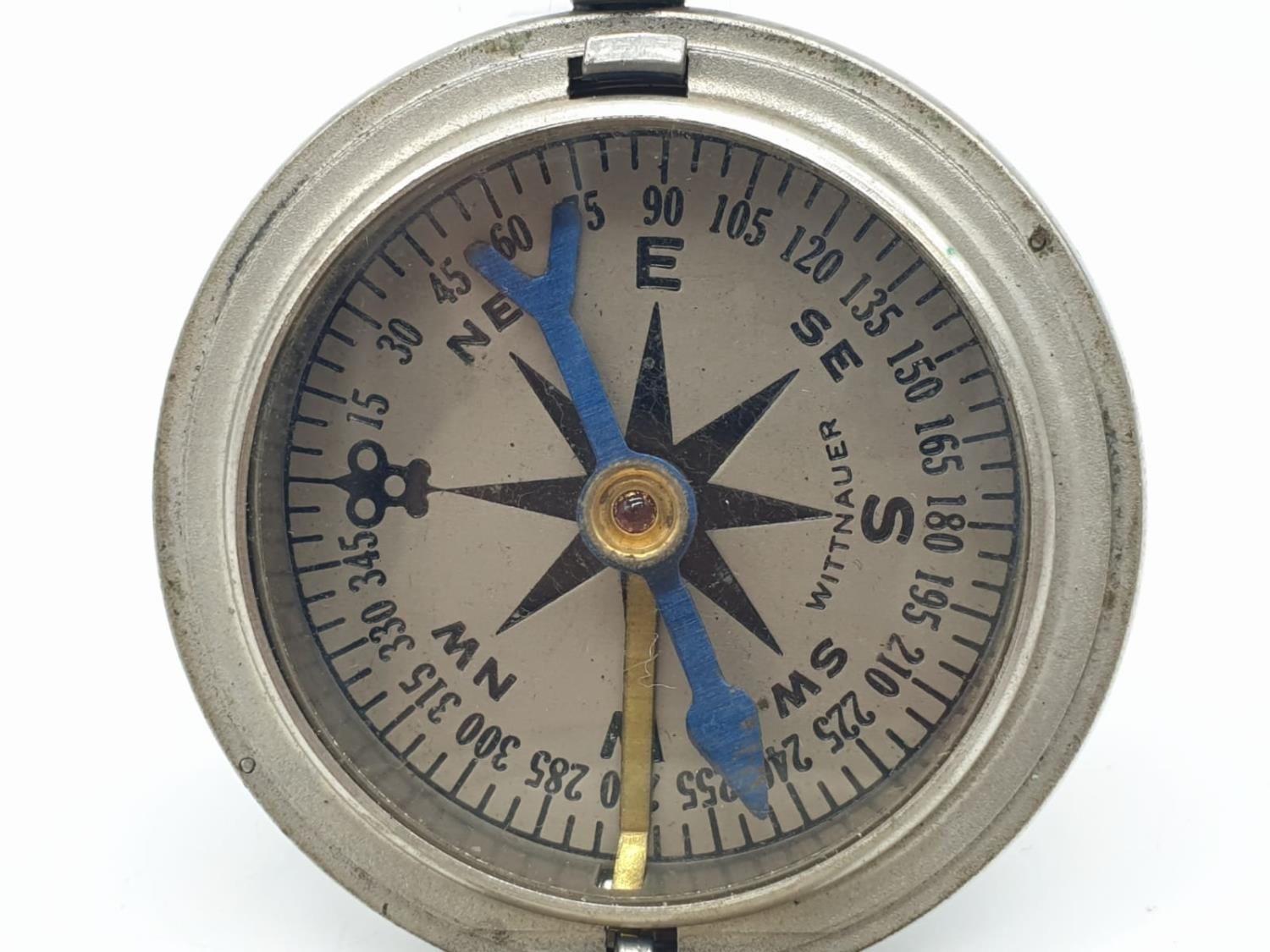 WW1 US Army Pocket Watch Compass circa1917. Maker: Wittnauer. - Image 2 of 5