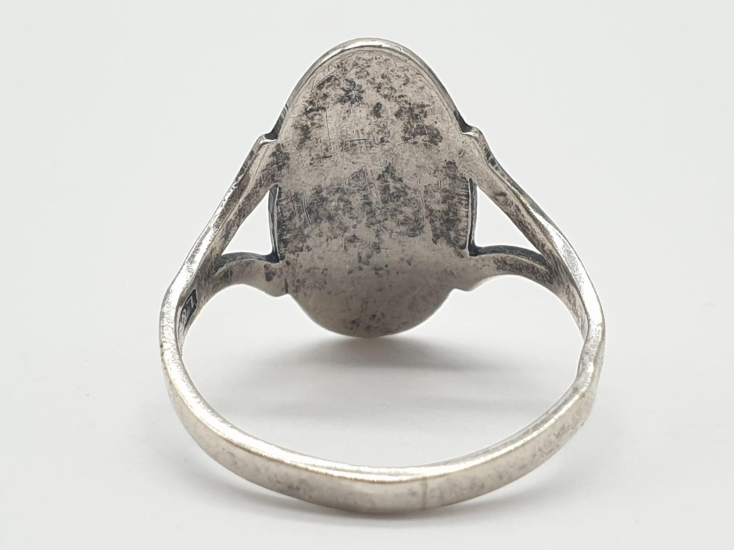 L&W Silver Vintage RING. 2.2g Size M. - Image 3 of 5