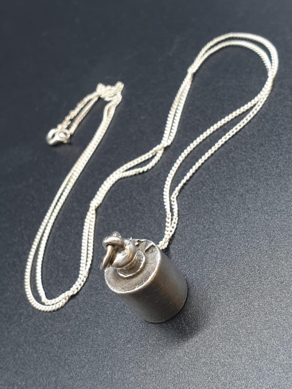 A Silver Pendant on a 50cm Silver Chain 5.2g