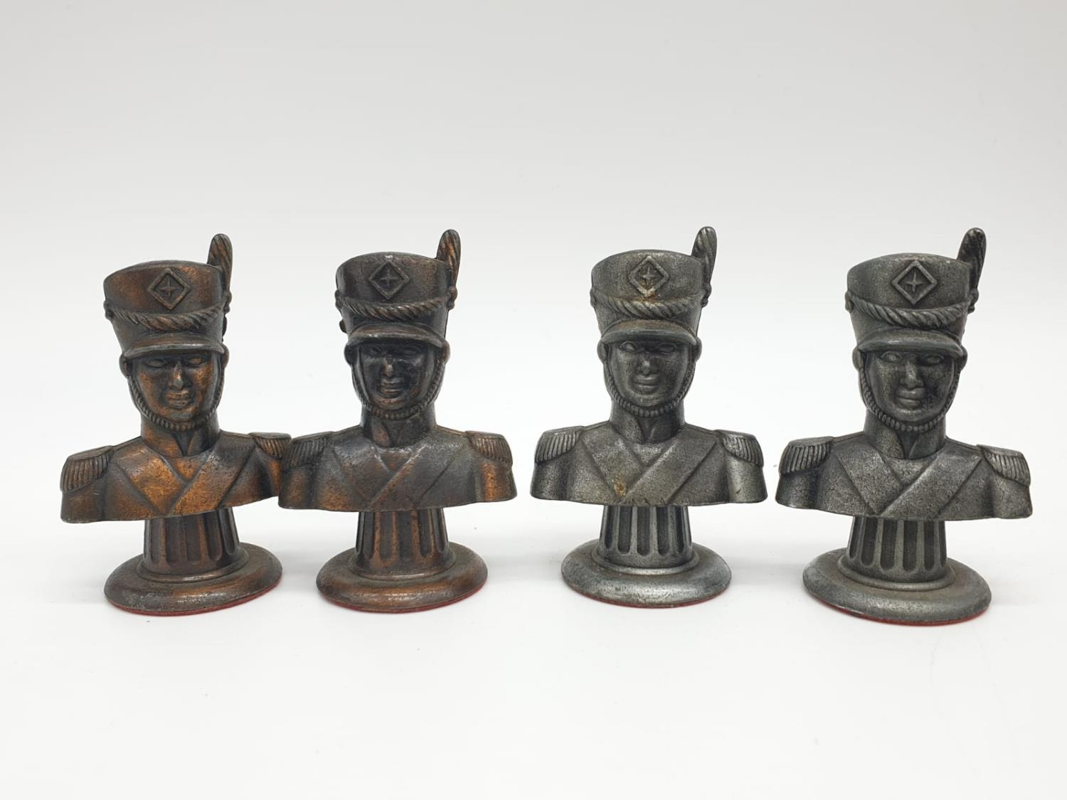 Metal CHESS SET Napoleonic Themed pieces. Napoleon 7.5 cm tall. Play on a square 3.5 cm. - Image 6 of 38