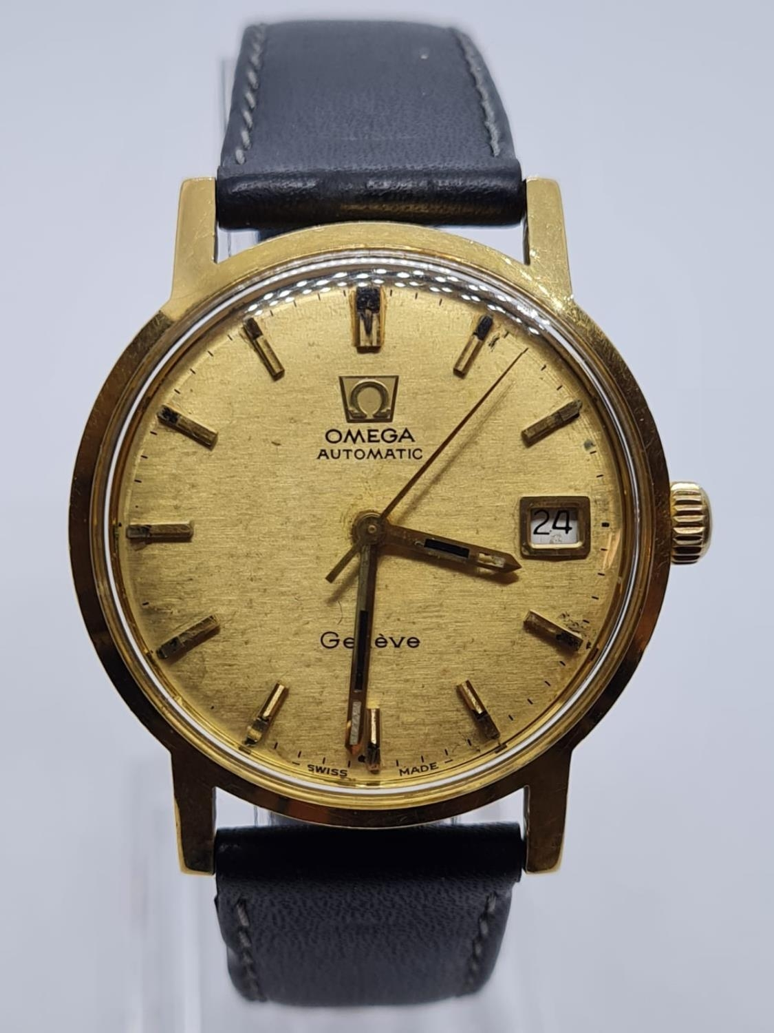 Vintage Omega Automatic Gents WATCH 18ct Gold circa 1970. 35mm case.