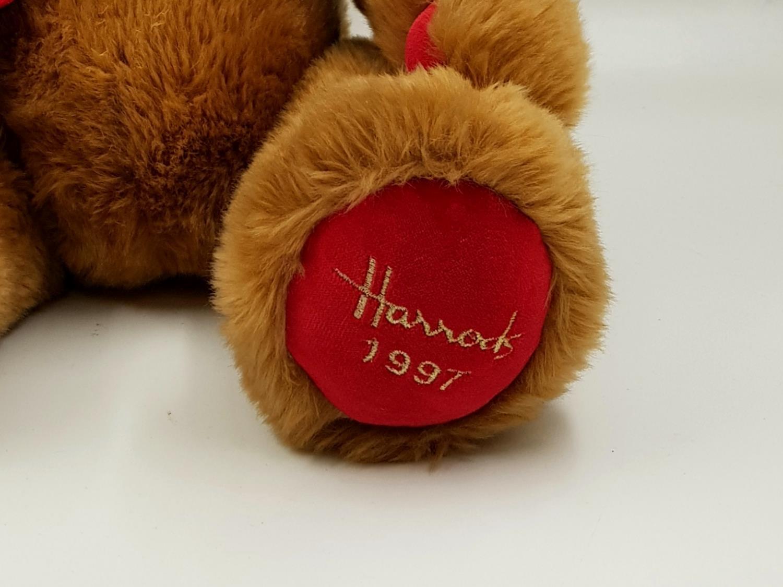 A 1997 Harrods teddy bear. 35cm high. - Image 2 of 3