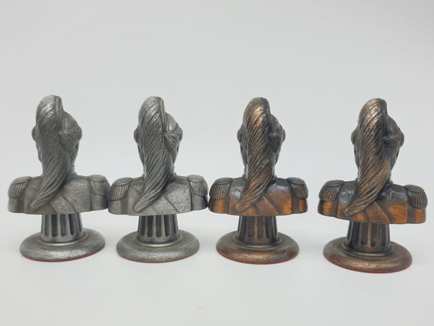 Metal CHESS SET Napoleonic Themed pieces. Napoleon 7.5 cm tall. Play on a square 3.5 cm. - Image 36 of 38