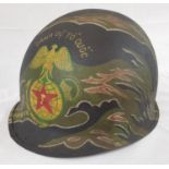 Vietnam War Era US M1 Helmet painted in A.R.V.N Marines Livery.