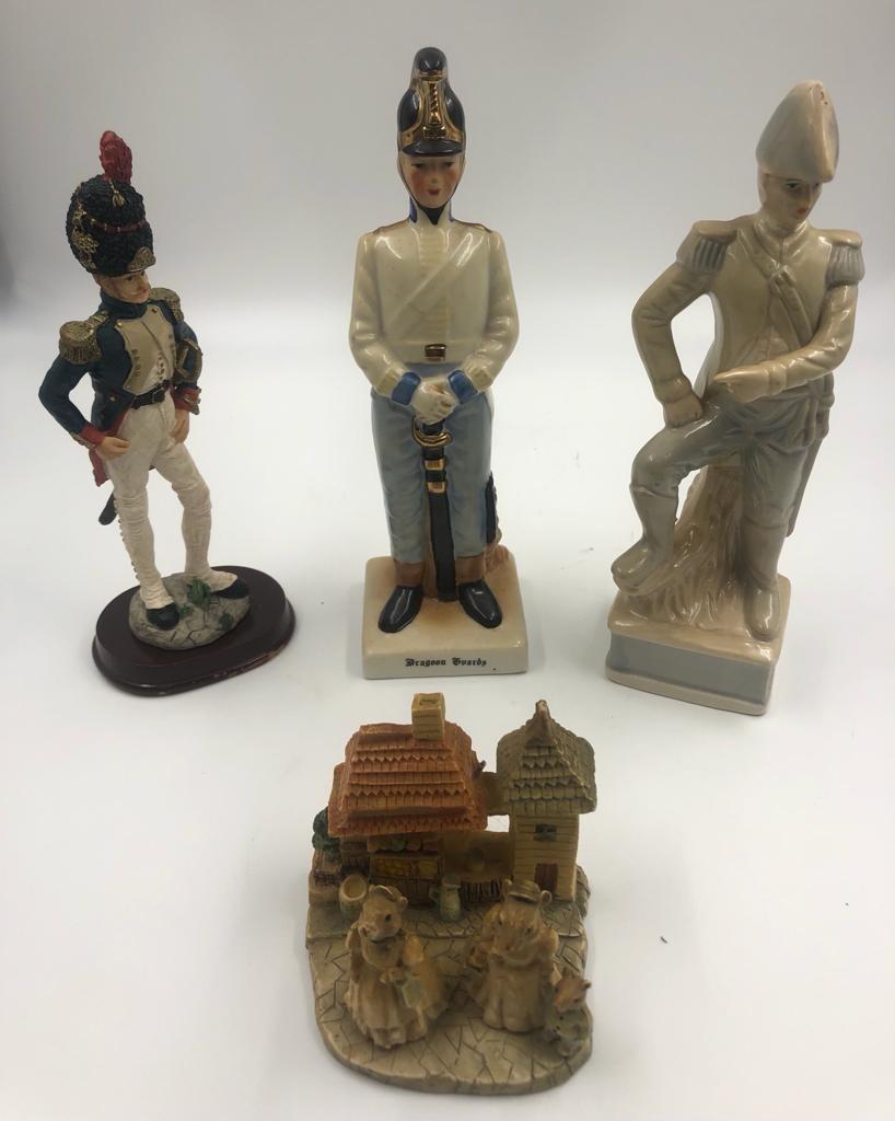 Selection of 4 x ceramic FIGURINES. 23cm- tallest piece.
