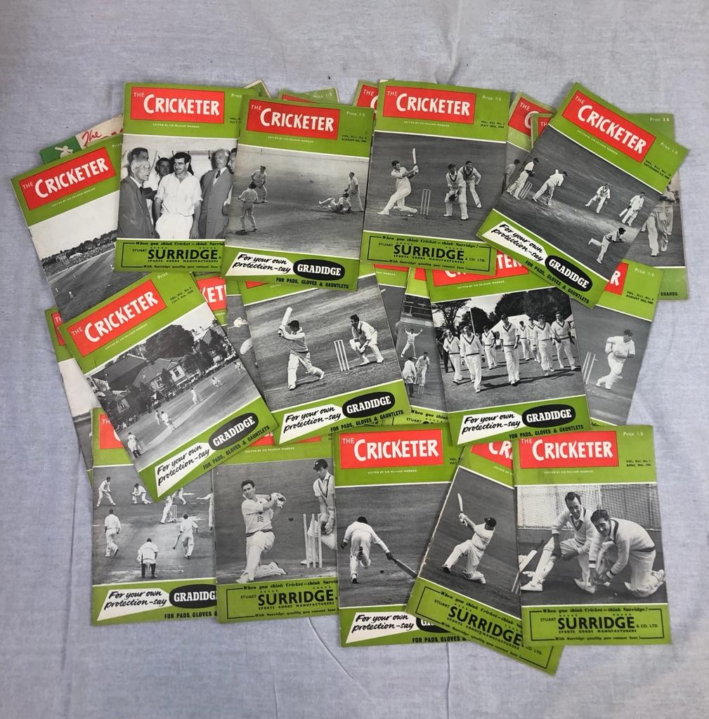 28 editions of The Cricketer magazines from 1955 - 1960.