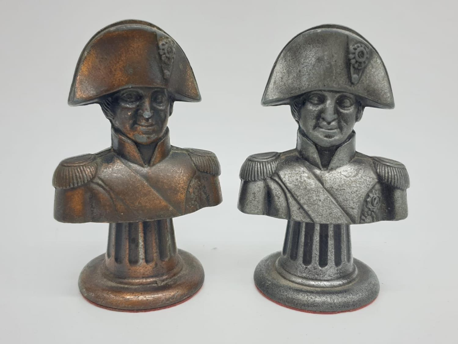 Metal CHESS SET Napoleonic Themed pieces. Napoleon 7.5 cm tall. Play on a square 3.5 cm. - Image 20 of 38