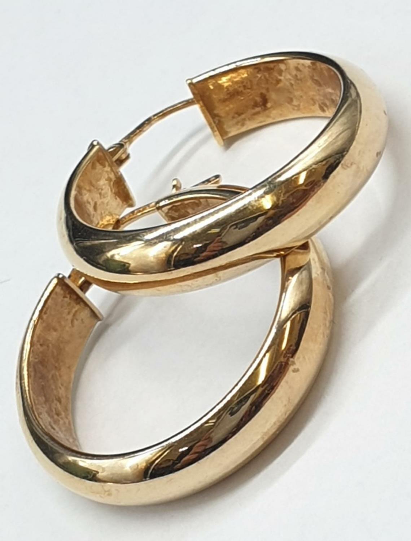 9ct Gold Hoop Earrings 3.7g