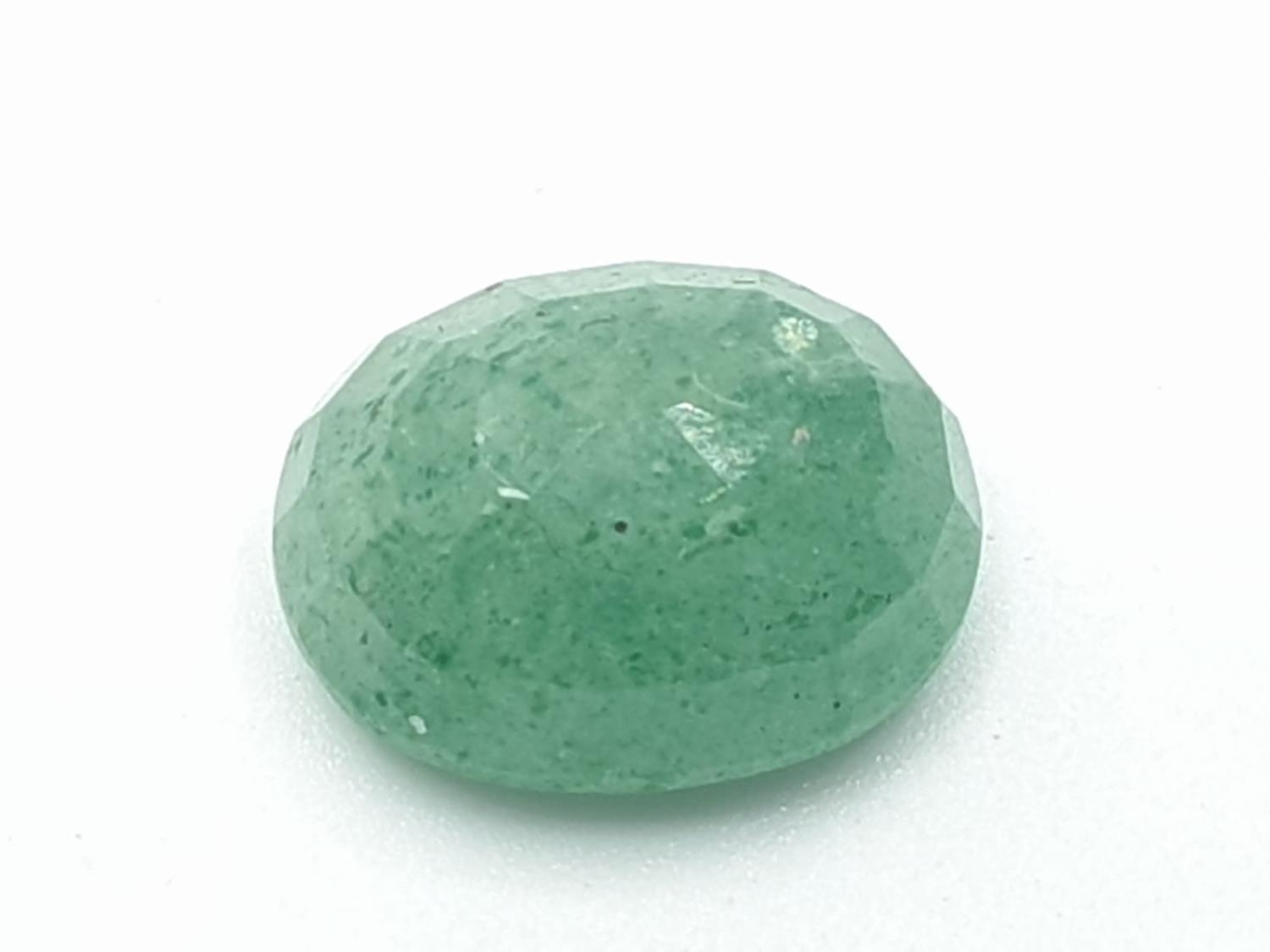 Set of 2 Certified Gemstones - Emerald and Blue sapphire - Image 4 of 7