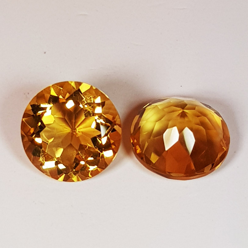 PAIR OF NATURAL CITRINES - BRAZIL - 3.43 Cts - Certificate GFCO Swiss Laboratory - Image 2 of 5