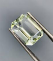 NATURAL HELIODOR - BRAZIL - 4.25 Cts - Certificate GFCO Swiss Laboratory