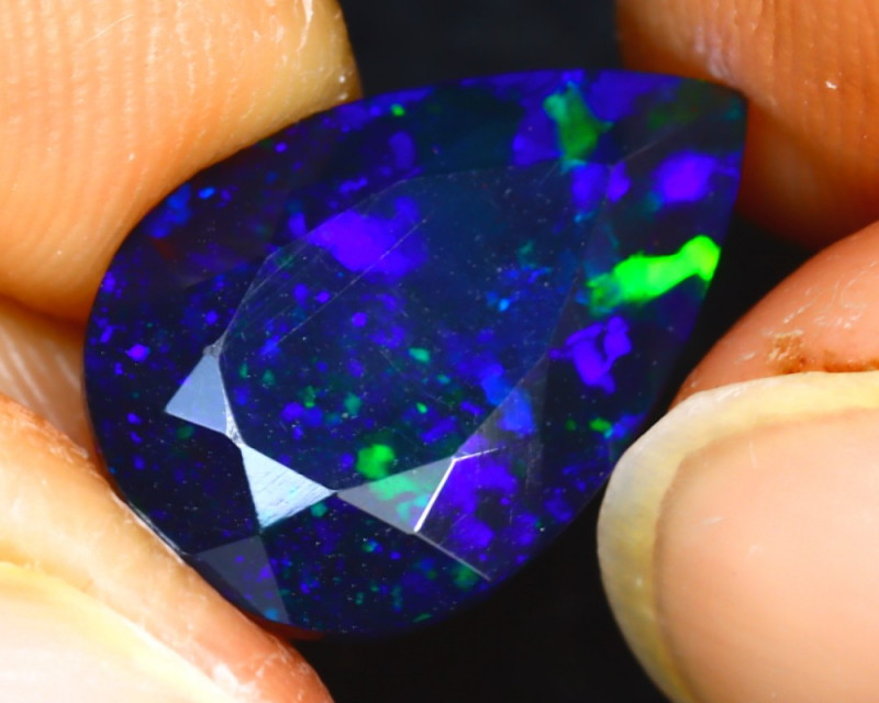 NATURAL BLUE OPAL - 2.85 Cts - ETHIOPIA - Certificate GFCO Swiss Laboratory - Image 3 of 5