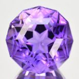NATURAL FANCY AMETHYST - 24.62 Cts - BOLIVIA - Certificate GFCO Swiss Laboratory