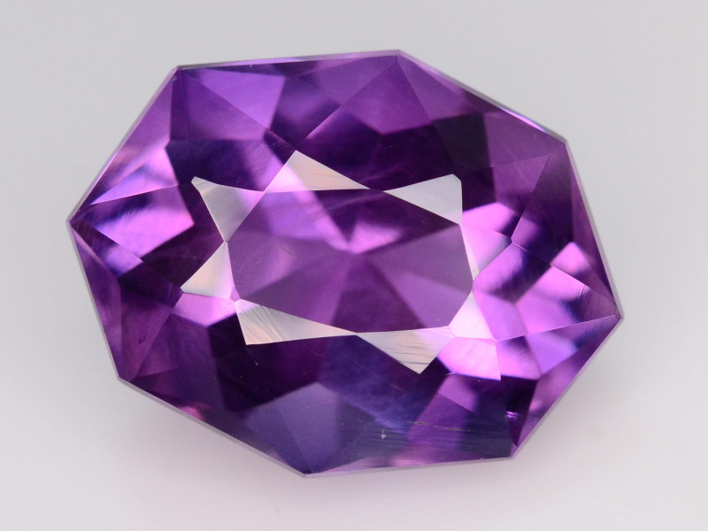 NATURAL AMETHYST - BRAZIL - 9.69 Cts - Certificate GFCO Swiss Laboratory - Image 2 of 5