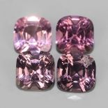 4 PIECES NATURAL PINK SPINEL - BURMA MYANMAR - 2.71 Cts - Certificate GFCO Swiss Laboratory
