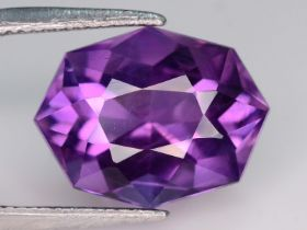 NATURAL AMETHYST - BRAZIL - 9.69 Cts - Certificate GFCO Swiss Laboratory