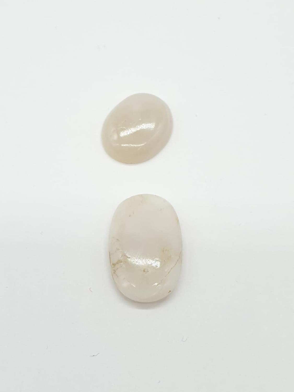 2 Gemstones GLI and GJSPC Certified; 4.60cts white natural opal 6.82cts white natural opal