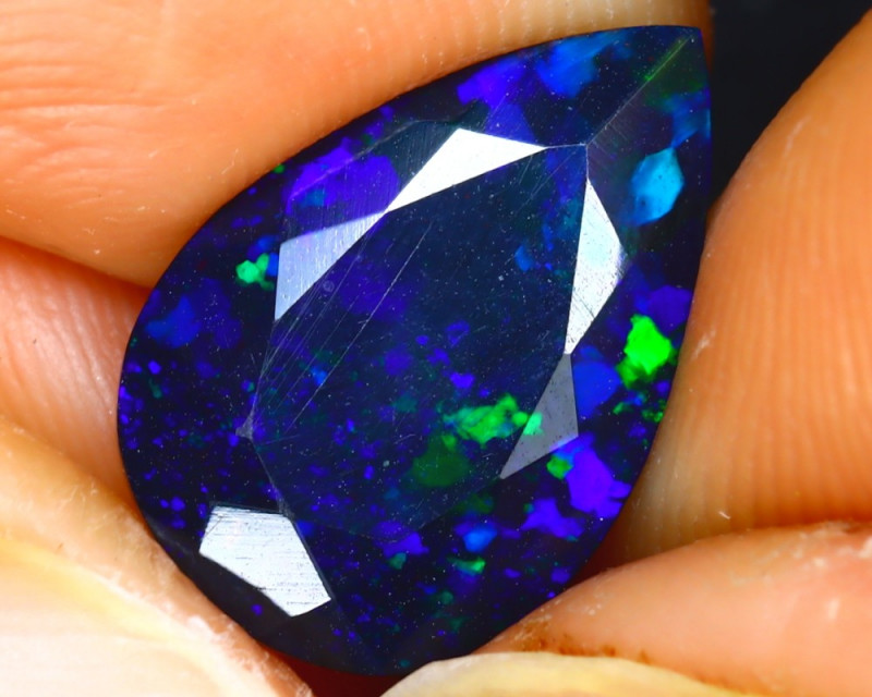 NATURAL BLUE OPAL - 2.85 Cts - ETHIOPIA - Certificate GFCO Swiss Laboratory - Image 2 of 5