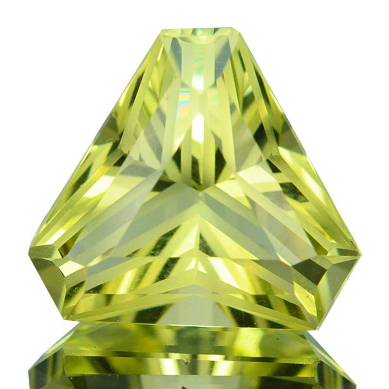 NATURAL LEMON QUARTZ - BRAZIL - 3.47 carats - Certificate GFCO Swiss Laboratory