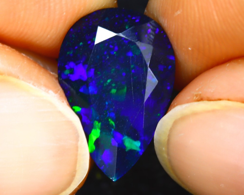 NATURAL BLUE OPAL - 2.85 Cts - ETHIOPIA - Certificate GFCO Swiss Laboratory - Image 4 of 5